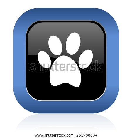 foot square glossy icon   - stock photo