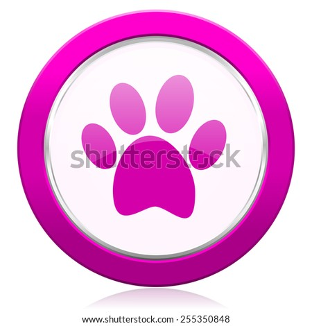 foot violet icon   - stock photo