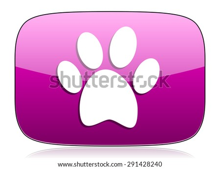 foot violet icon  original modern design for web and mobile app on white background with reflection  - stock photo