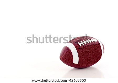 Football a lot of Copyspace - Isolated over a white background - stock photo