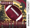Football abstract design poster. Vector Illustration. - stock vector