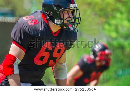 Football, American Football, Quarterback. - stock photo