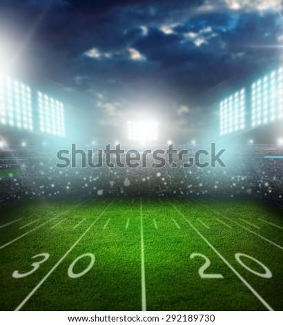 Football, american, stadium. - stock photo