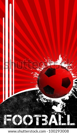 Football background with space (poster, web, leaflet, magazine) - stock photo