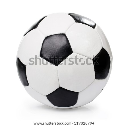 football ball, isolated - stock photo