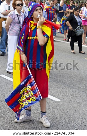 Football: Barcelona, 29 May 2011 - Barcelona Football win the Champions league. - stock photo