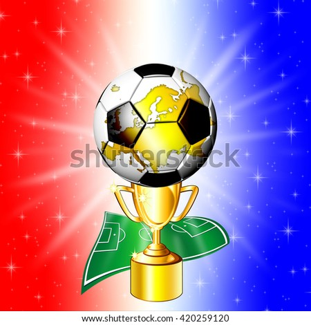 Football Championship Golden Cup - stock photo