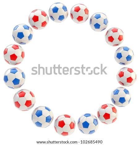 Football Circle Frame Soccer Ball Background Stock Illustration ...