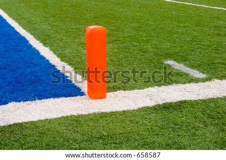 Football end zone (horizontal) - stock photo