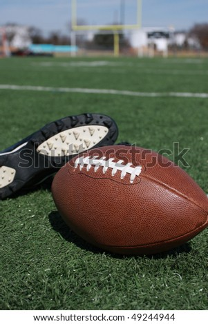 football equipment and field - stock photo