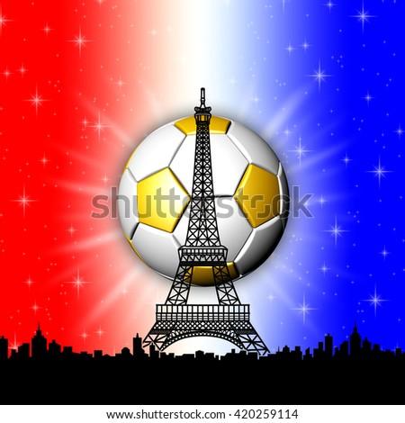 Football European Championship France  - stock photo