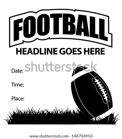 Football event invitation or announcement. jpg - stock photo