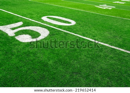 Football field - stock photo