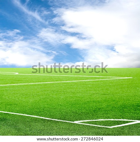 football field against the sky - stock photo