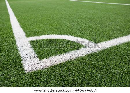 football field corner green turf corner of soccer pitchsoccer grass conner80 green