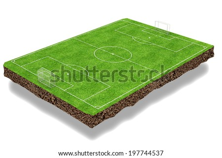 Football field 3d render