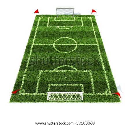 football field isolated on white background