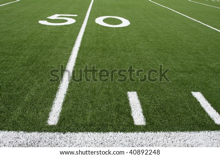 Football Field near the Fifty Yard Line