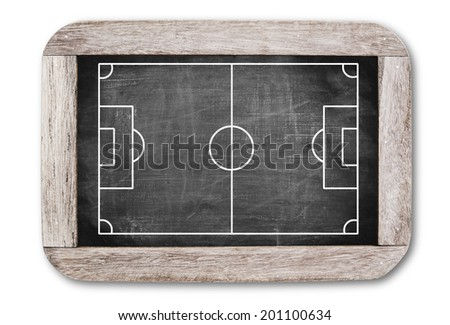 Football field on chalkboard