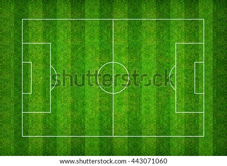 Football field or soccer field pattern and texture with clipping path. Abstract background for create soccer tactic and soccer game strategy.