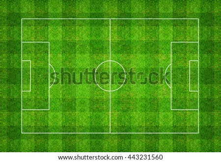 Football field or soccer field pattern texture background with clipping path. Abstract background for create soccer tactic and soccer game strategy.