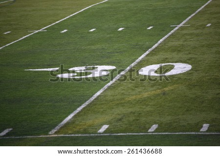 Football Field Yard Marker - stock photo