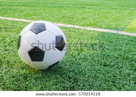 Football for Training on Artificial Grass in Soccer Academy.