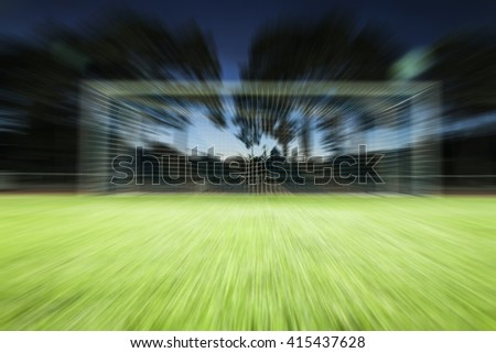 Football goal background - stock photo