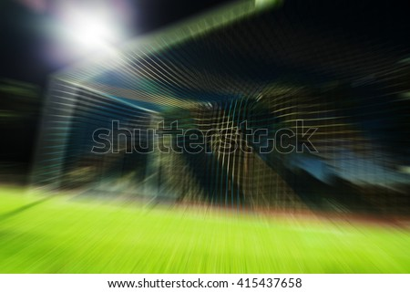 Football goal blurred - stock photo