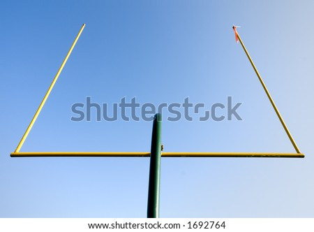 Football Goal Posts - stock photo