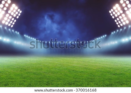 Football ground - stock photo