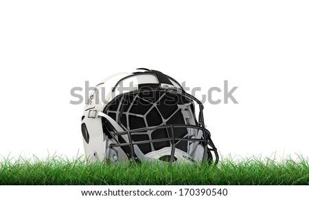 football helmet isolated on white background - stock photo