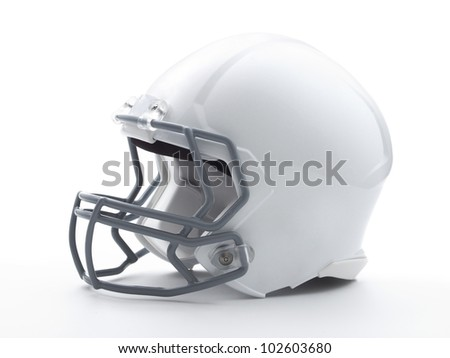Football Helmet with clipping path - stock photo
