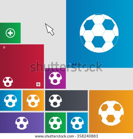 Football icon sign. buttons. Modern interface website buttons with cursor pointer. illustration