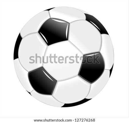 Football isolated on a white - stock photo