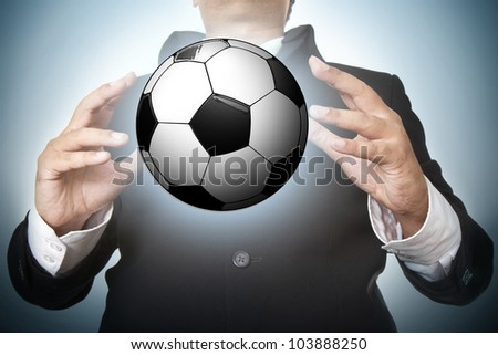 football light poster, easy editable - stock photo