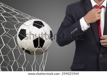 Football manager with soccer  - stock photo