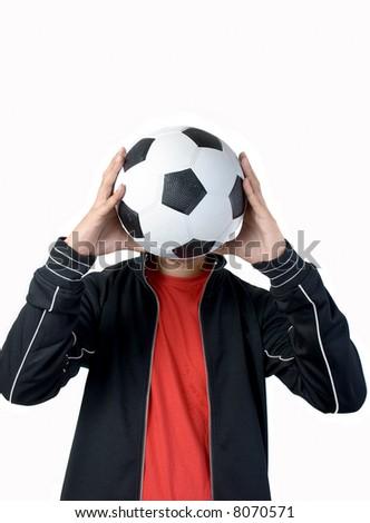 Football mania - stock photo