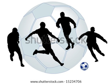 football match and ball illustration