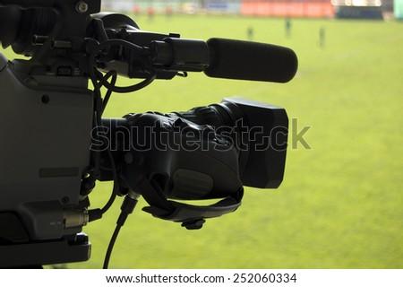 Football Match Camera - stock photo