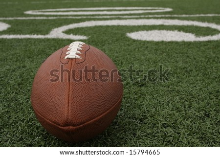 Football near the 50