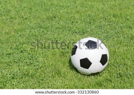 football on grass green