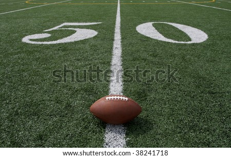 Football on the Fifty Yard Line