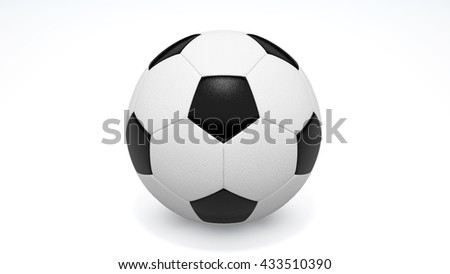 football on the white background,3d rendering,football sport,Soccer Ball, Soccer, Cut Out, Goalie, Goal - stock photo