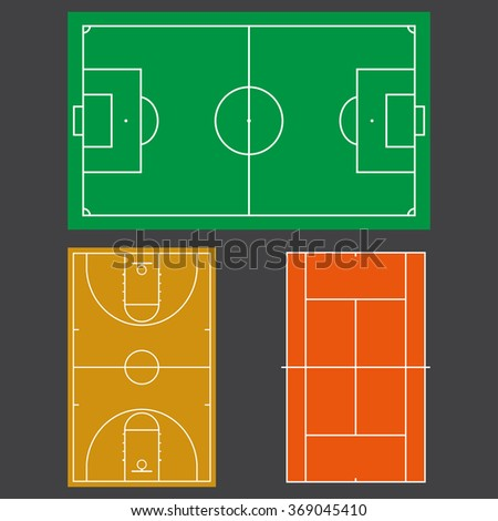 Rugby field stuff stock vector 486263377 shutterstock for Basketball court plan