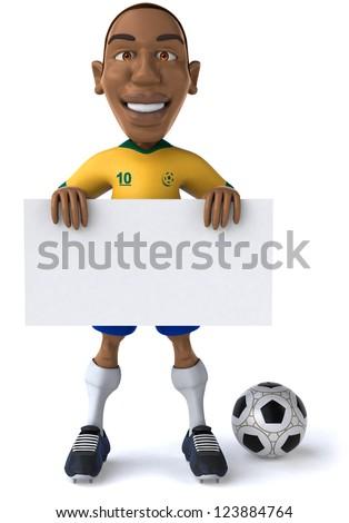 Football player - stock photo