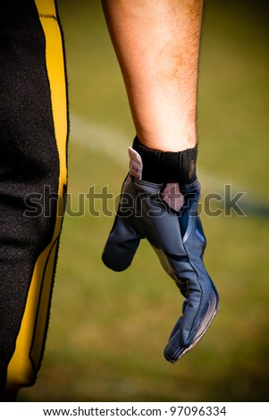 Football player hand - stock photo