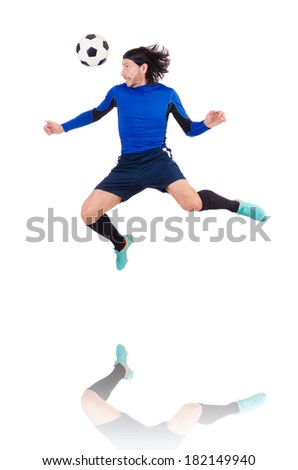 Football player isolated on the white background