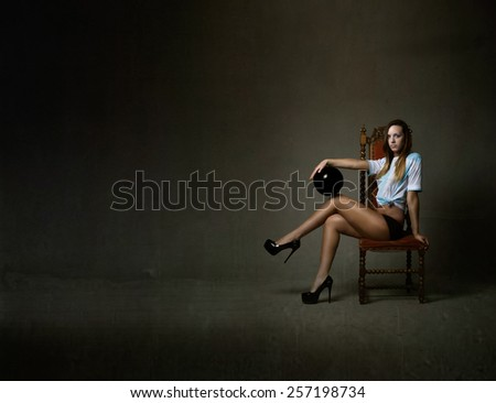 football player ready for substitution - stock photo