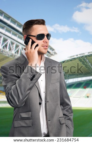 Football player's agent - stock photo